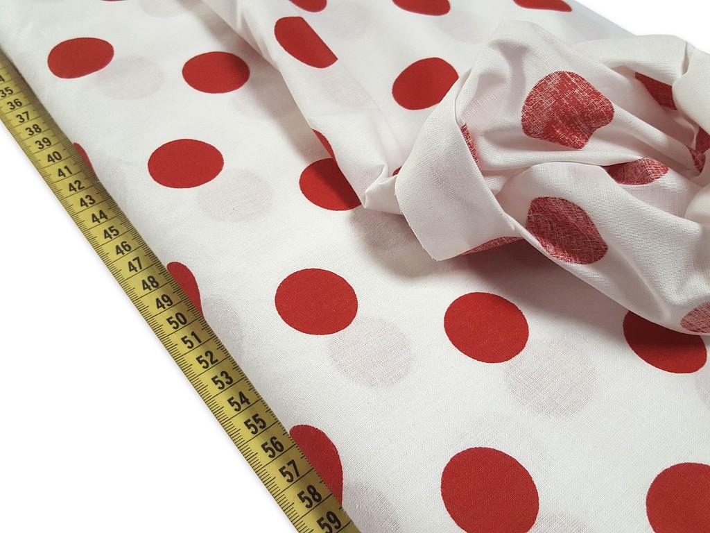 Bavlnená látka červené bodky 28 mm šírka 140 cm  96b9ad50c26
