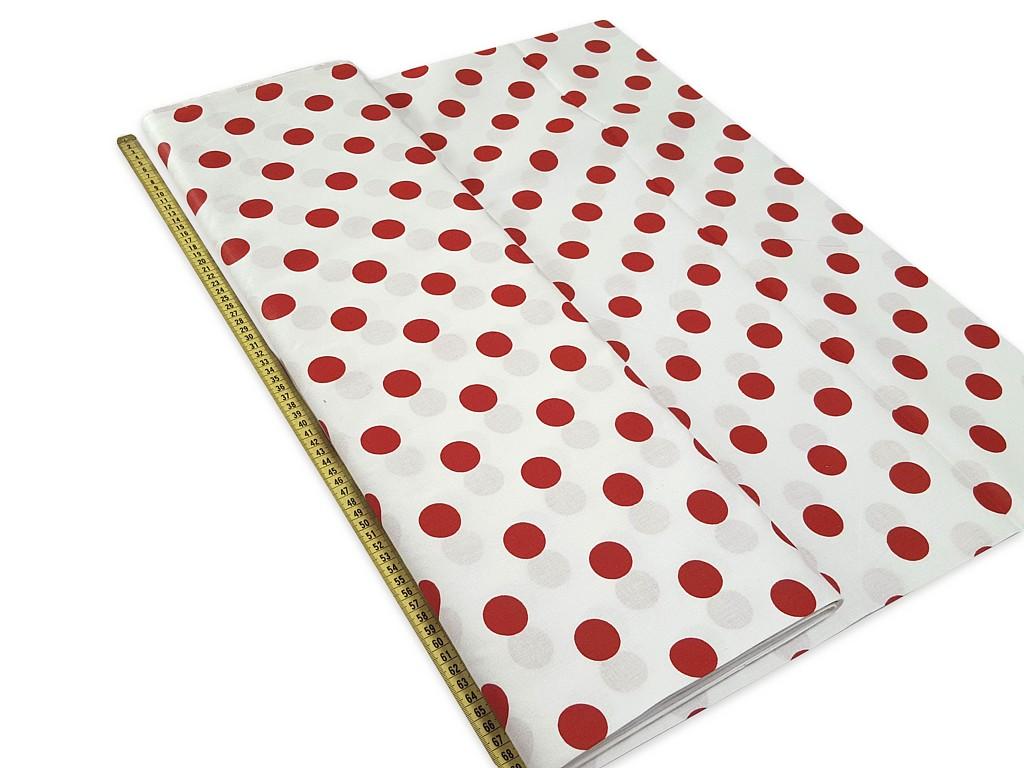 Textillux.sk - produkt Bavlnená látka červené bodky 28 mm šírka 140 cm a02c836a60b