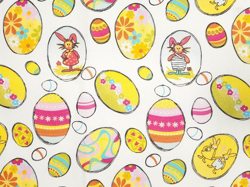 46dacb774165 Textillux.sk - produkt Bavlnená látka kreslené veľkonočné vajíčko 140 cm