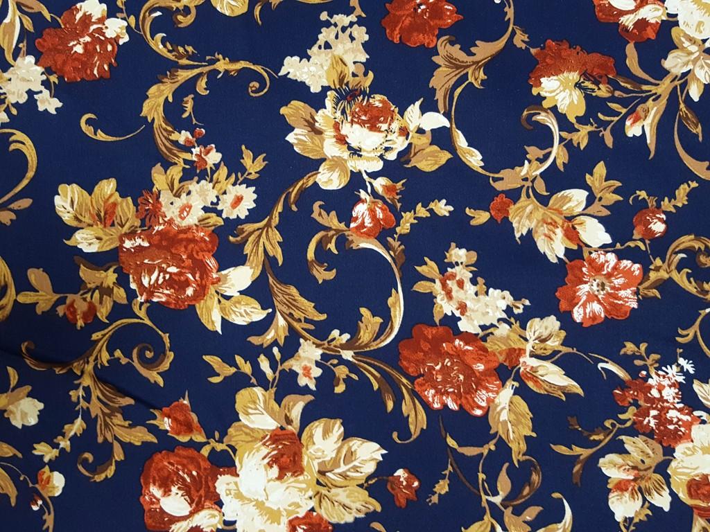 6bf04ba77154 Textillux.sk - produkt Bavlnený satén matný hnedý ornament 150 cm