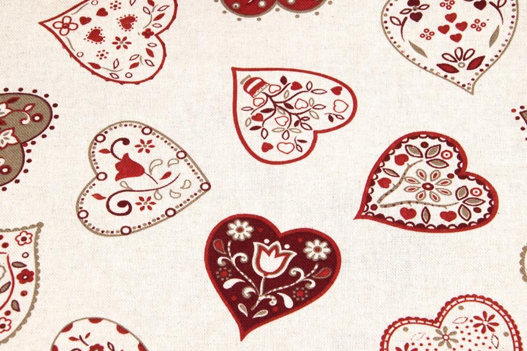 4d37cff1ef79 Textillux.sk - produkt Dekoračná látka srdce s ornamentami 140 cm