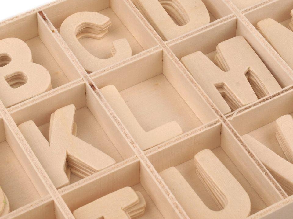 ca93fcf3b Drevené písmená v krabici | Textil Lux
