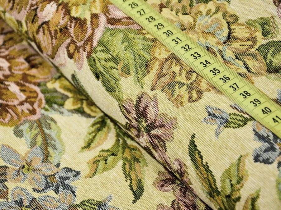 Gobelínová látka retro veľký kvet šírka 150 cm  22024bffc65