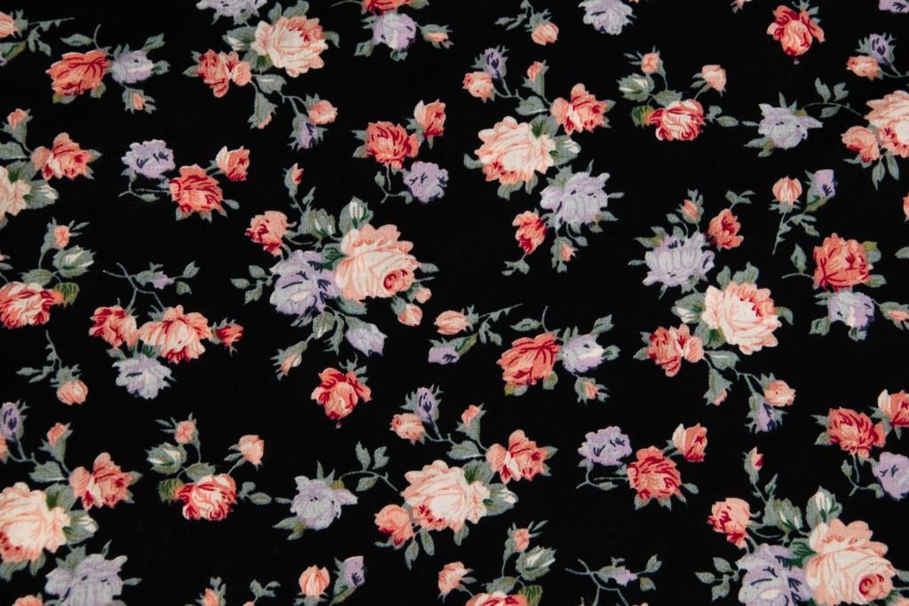 36956bf69c9b Textillux.sk - produkt Viskózový úplet pastelové ružičky šírka 140 cm