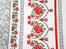 67f4c0f1867c Bavlnená látka Vrchársky vzor - ruže 150 cm  11270