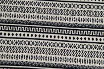 2c7ddf694eb7 Spoločenská látka bordúra biely kosoštvorec 145 cm