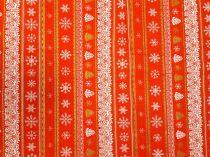 Vianočná látka vločky v riadku 140 cm  11200  e1051488524