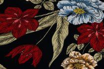 ba8da9c75ea8 Viskózový úplet kvety trojfarebné šírka 140 cm  11437